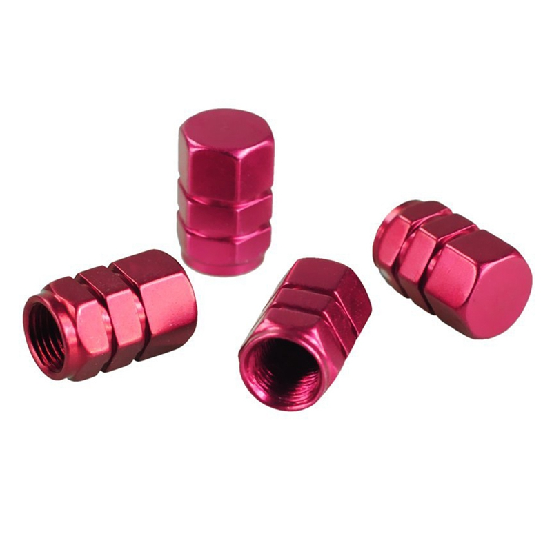 High-quality 4 X Tire Wheel Rims Stem Air Valve Caps Tyre Cover Car Truck Bike Red ALUMINUM