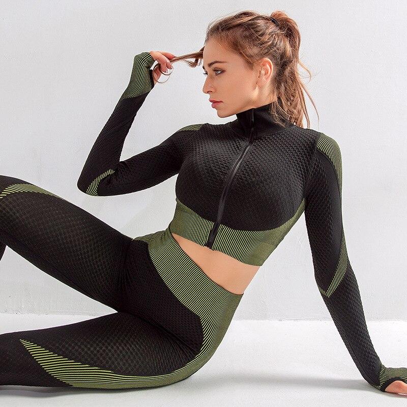 elástico correndo roupas esportivas de fitness jogging femme treino