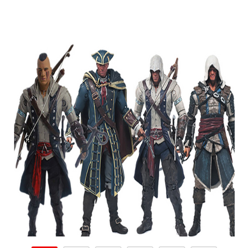Assassin/'s Creed 4 Black Flag Connor Edward Kenway 15cm PVC Action Figure Model