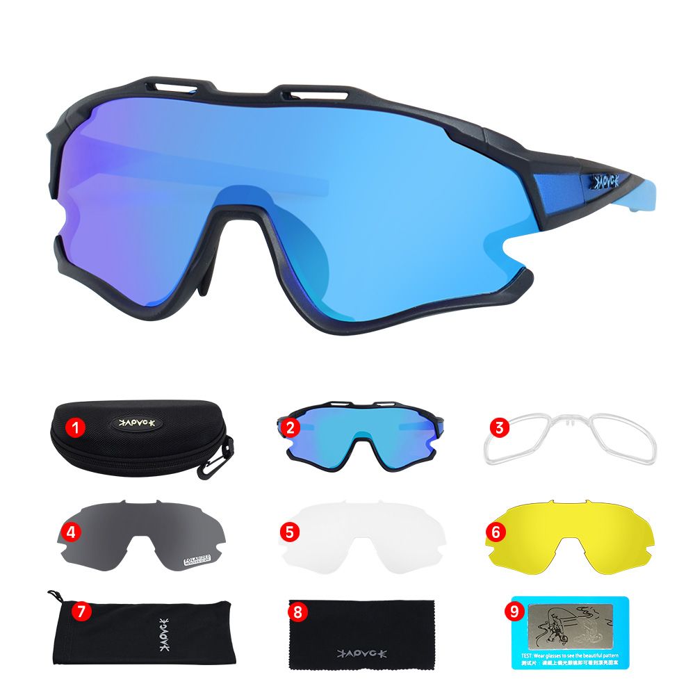 Cycling Sunglasses Professional Polarized Cycling Glasses MTB Road Bike Sport Sunglasses Bike Eyewear UV400 Bicycle Goggles 23