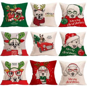 Animal Tree Cushion Cover Dog Christmas Decorations For Home Merry Christmas Ornament Gift Xmas Natal 2020 Happy New Year 2021 image
