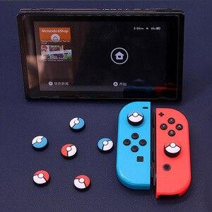 Image 5 - Słodki kociak łapa pazur Sakura uchwyt na kciuki czapka Joystick pokrywa na przełącznik do nintendo Lite Joy Con kontroler Gamepad Thumbstick Case