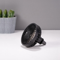 Mini Electric Car Fan Low Noise Car Air Conditioner 360 Degree Rotating Cooling Fan Car Cooler for Summer