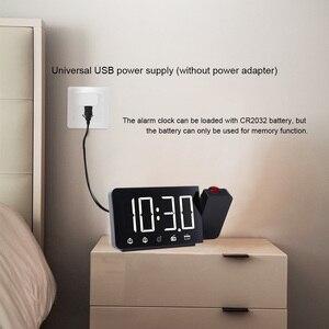 Image 3 - Цифровые электронные настольные часы, функция повтора, FM радио, громкие часы со светодиодной подсветкой и проекцией времени