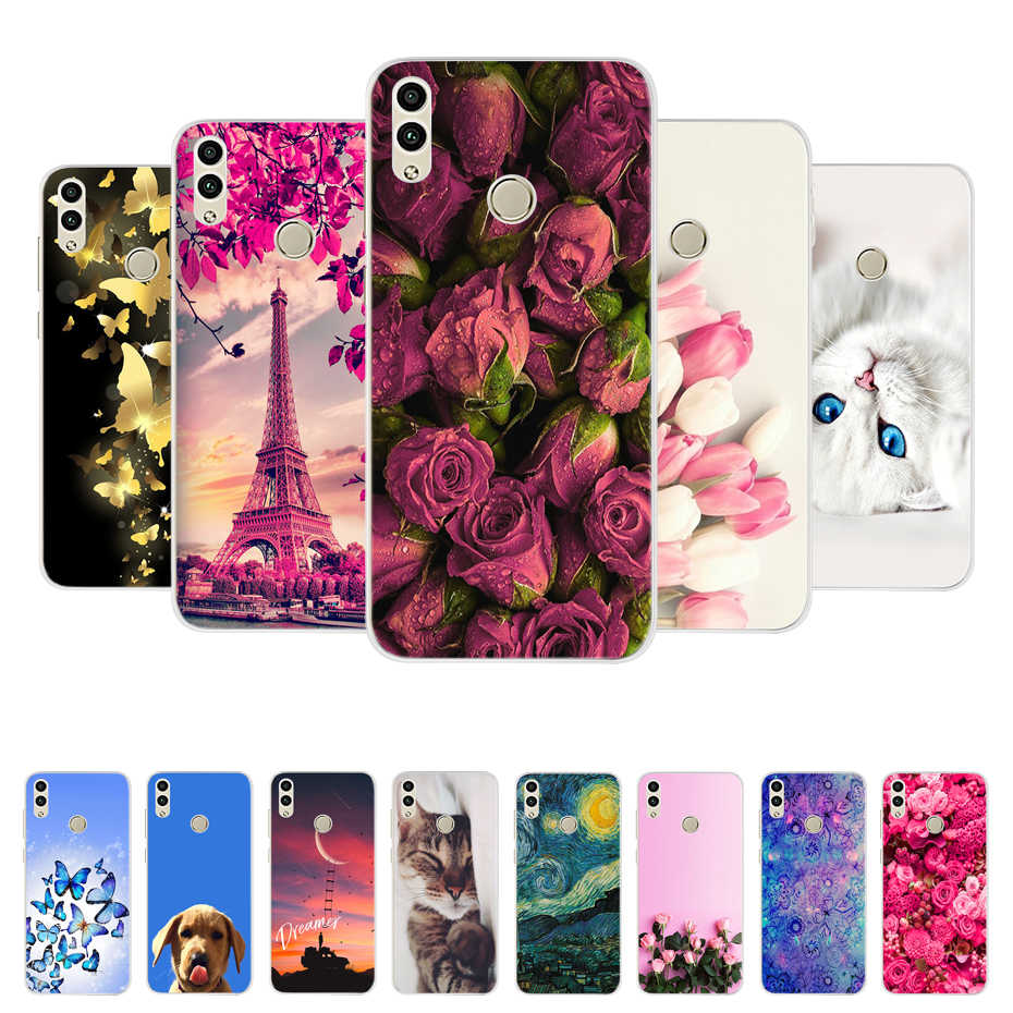For Huawei Honor 8A Case Cover Honor 8C Case Soft Silicon Bumper On Honor 8A Cases For Huawei Honor 8A 8X Phone Case Back Cover