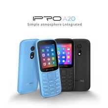 Telefones duplos do cartão do sim dos telefones celulares 800mah bluetooth gsm espanol telefone da língua destaque ipro celulares a20mini destaque