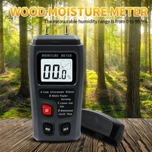 LCD 0-99.9% Digital Wood Moisture Tester Two Pins 4 Modes Wood Humidity Tester LCD Large Screen Display Moisture Meter digital wood moisture meter 7 categories of material moisture detection with lcd display backlight wood working tester
