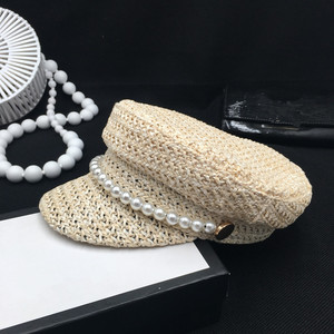 Image 4 - Pearl summer hat female new spring andstraw braided light breathable fashion casual sunscreen sunscreen cap tide