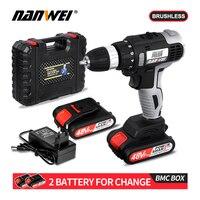 NANWEI 21V mini brushless Screwdriver  drill cordless drill