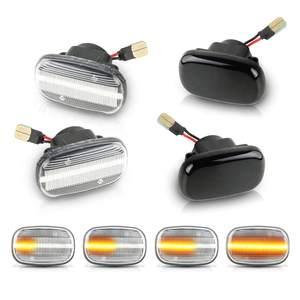 2PCS Flowing Turn Signal Light Dynamic Led Side Marker Panel Lamp for Toyota Corolla Carina E T19 Corolla E10/E11/E12 Celica(China)