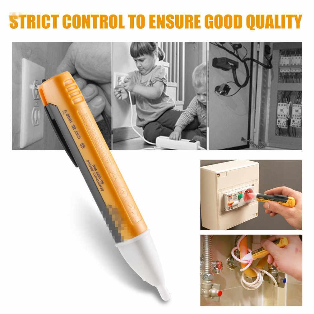 1 pces indicador elétrico 90-1000 v tomada de parede ac power outlet sensor testador detector de tensão caneta teste de luz led lápis navio da gota