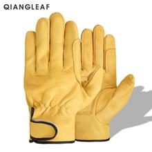 QIANGLEAF – gants de travail en cuir de mouton pour hommes, flambant neuf, pour le travail industriel, pour mécaniciens de sécurité, vente en gros, livraison gratuite, 527MY