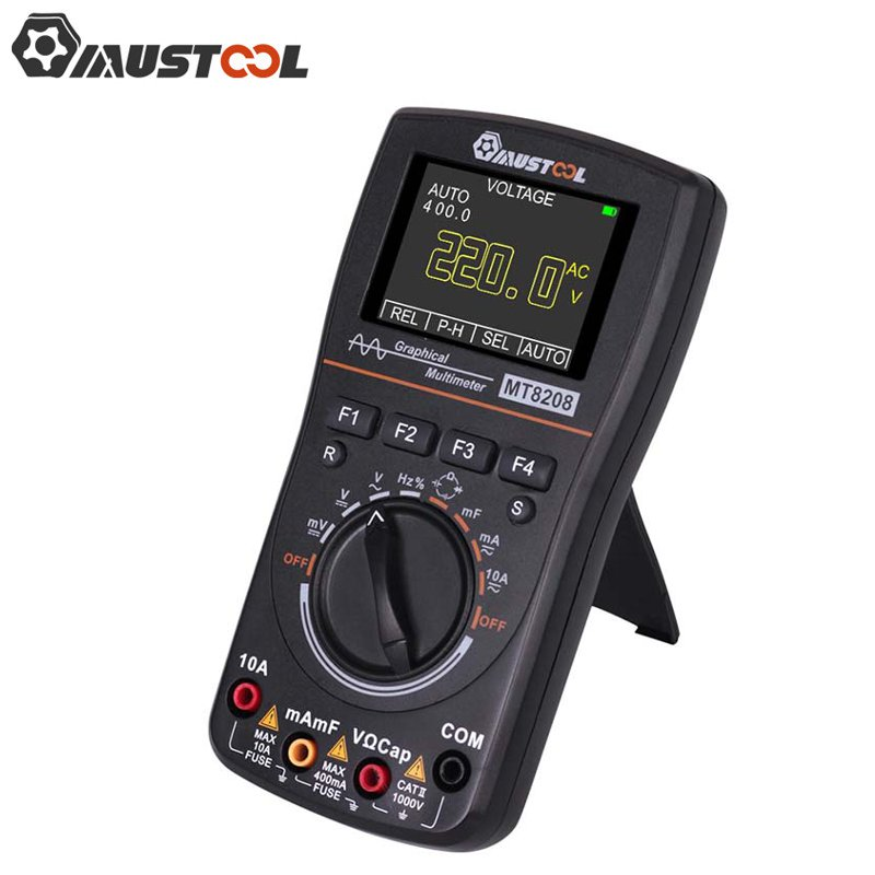 MUSTOOL Upgraded MT8208 2 In 1 HD Intelligent Digital Multimeter Graphical Oscilloscope 2 5Msps Sampling Rate Electronic Test