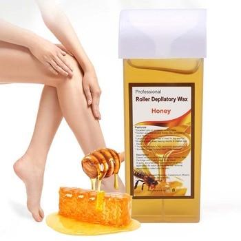 100g Hair Removal Wax Gentle Non-irritating Hot Depilatory Cream Wax Cartridge Beeswax Warmer Waxing Hair Removal for Women Men