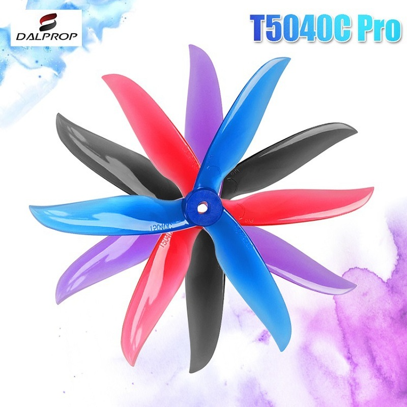 12Pair 24PCS Upgraded DALPROP CYCLONE T5040C PRO <font><b>5040</b></font> Pro 5x4x3 3-<font><b>blade</b></font> POPO Propeller CW CCW for RC Drone FPV Racing image