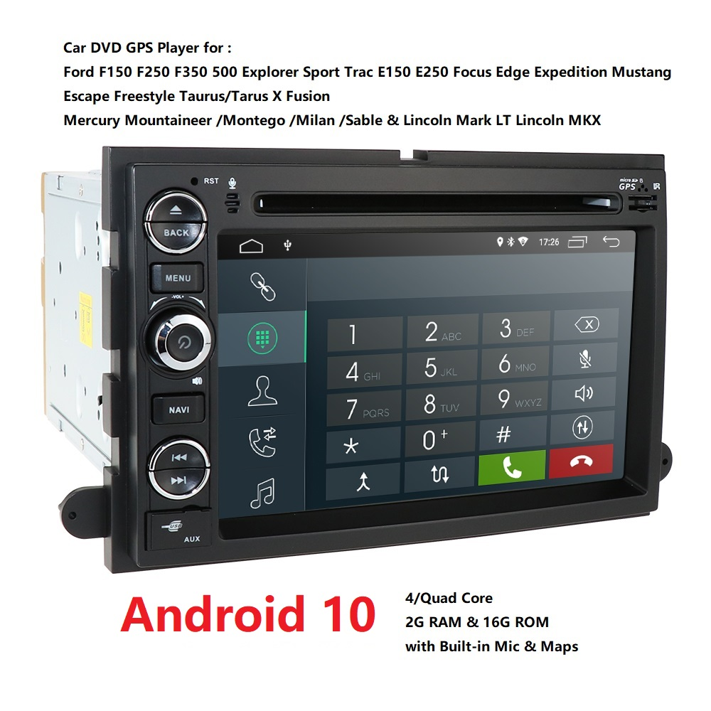 4G 2din Android Auto DVD player <font><b>F</b></font>ür Ford F150 Mustang Expedition Explorer Fusion 2006 2007-2009 Quad Core radioGPS Navigation RDS image