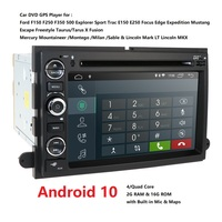 4G 2din Android Car DVD player For Ford F150 Mustang Expedition Explorer Fusion 2006 2007 2009 Quad Core radioGPS Navigation RDS