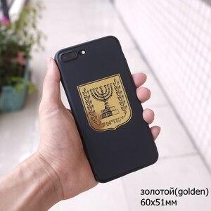 Image 5 - 3 ratels MT 032 # 国章コートの腕のイスラエルのため携帯電話ノートブックニッケル金属車のステッカー