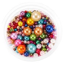Круглые бусины с имитацией жемчуга пластиковые из АБС пластика