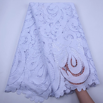 High Quality 2020 African Chemical Tulle Lace Fabric Water Soluble Nigerian Guipure Wedding Dress African Cord Lace Fabric