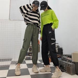 Image 4 - מכנסיים נשים באיכות גבוהה מטען קרסול אורך מכנסיים רך Harajuku קוריאני סגנון נשים טרנדי מוצק כיסים מקרית כל משחק חדש