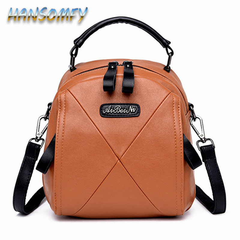 2019 Genuine Leather Designer Back Pack Women Backpack Black School Bag For Girl Small Crossbody Bags Female Mini Knapsack CY-84