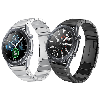 Metal Stainless steel Watchband Band For Samsung Galaxy Watch 3 LTE 45mm Wrist Strap Watch3 41mm WristBand Bracelet Accessories