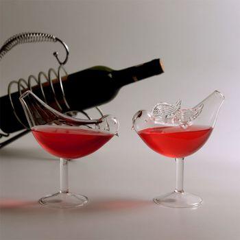 150Ml kreatywny kształt ptaka koktajl szklana czara osobowość molekularne wędzone modelowanie szkła Fantasy kielich do wina Retailsale tanie i dobre opinie CN (pochodzenie) ROUND Szkło Koktajl szkła Ekologiczne 911056033