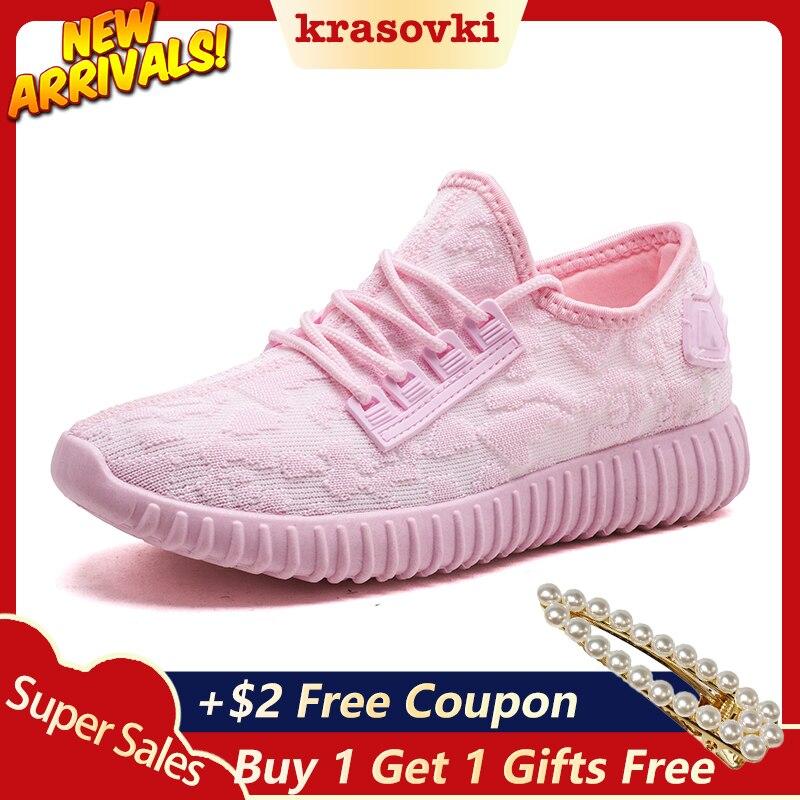 Krasovki Sneaker Women Fashion Dropshipping Flat Bottom Lace Causal Breathable Women Shoes Mesh Round Toe Women Vulcanize Shoes