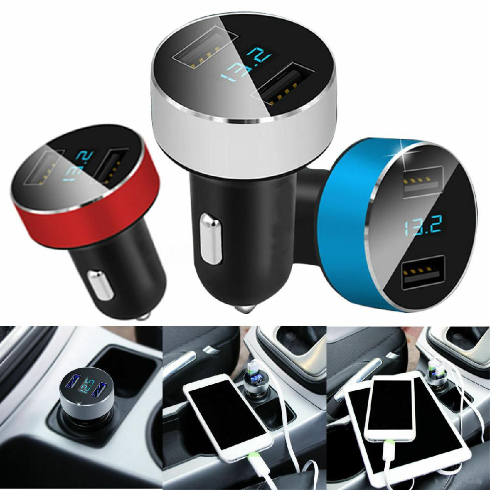 Dual Ports 3.1A USB <font><b>Car</b></font> Cigarette Charger Lighter Digital LED Voltmeter <font><b>12V</b></font>/24V Fast <font><b>Car</b></font> Charger <font><b>Power</b></font> <font><b>Adapter</b></font> Accessories image