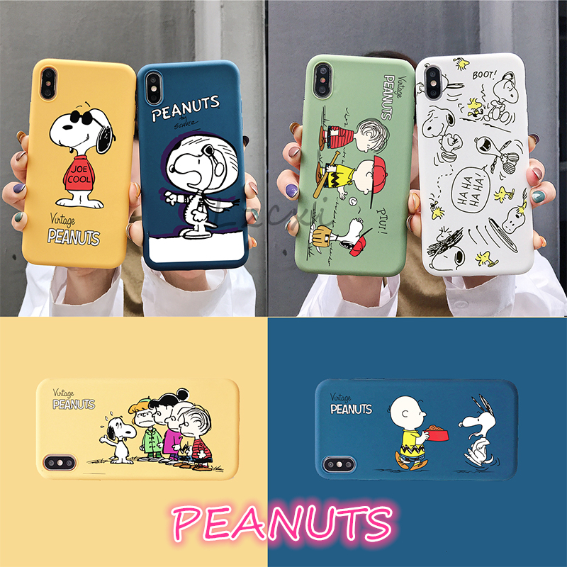 Cartoon Peanuts Charlie Brown dog <font><b>phone</b></font> <font><b>case</b></font> For iphone 7 8 6 s X XS Max Xr Cute Anime puppy <font><b>BFF</b></font> Candy silicon Soft cover coque image