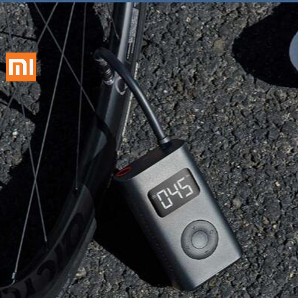 Original xiaomi Mijia Inflator Portable Smart Digital Tire Pressure Sensor Electric Pump for Motorcycle Bycycle Car Soccer image