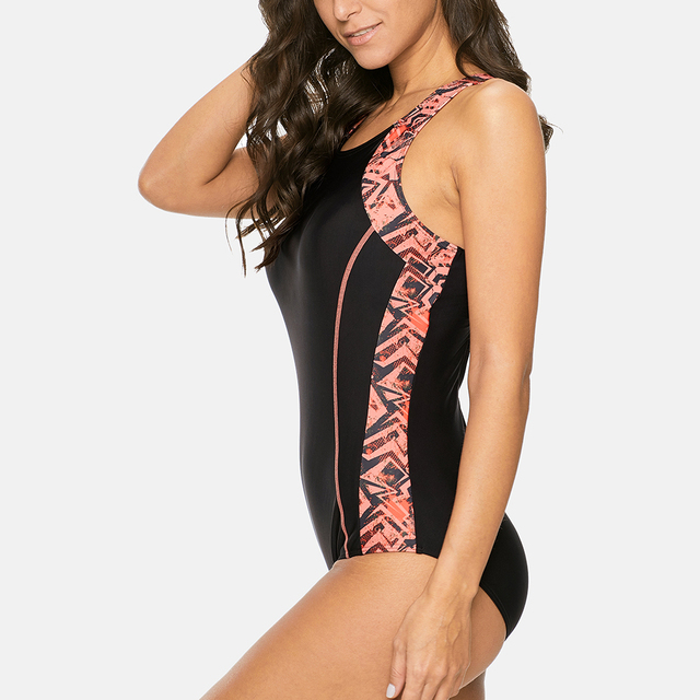 Anfilia femmes une pièce sport maillot de bain dames maillots de sport dos nu plage vêtements maillots de bain Monokini Bikini