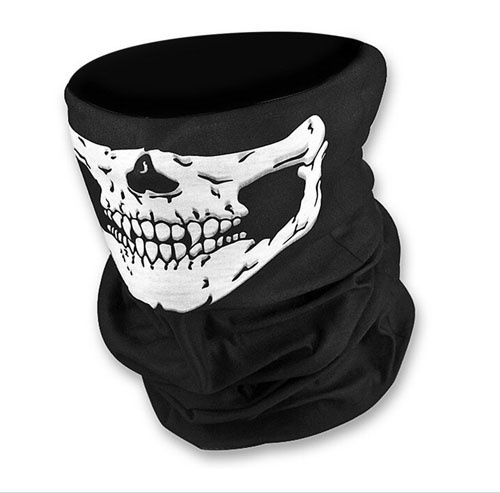 Skull Bandana Breathable & Stretchy Fabric Bike Motorcycle Sports Helmet Neck Face Mask Paintball Ski Sport Headband