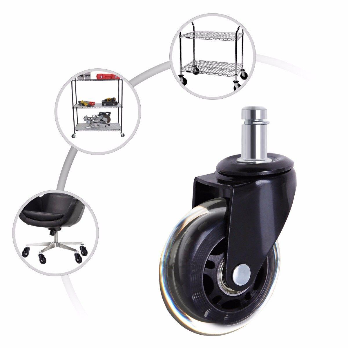 5 peças rodas rodízio cadeira de escritório 3 Polegada giratória rodízio resistente rodas substituição macio seguro rolos móveis ferragem-3
