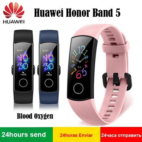 2019 Оригинал Huawei Honor Band 5 уровень кислорода в крови, активно-матричные осид, обнаружить плавать осанки устройство для отслеживания сердцебиен...