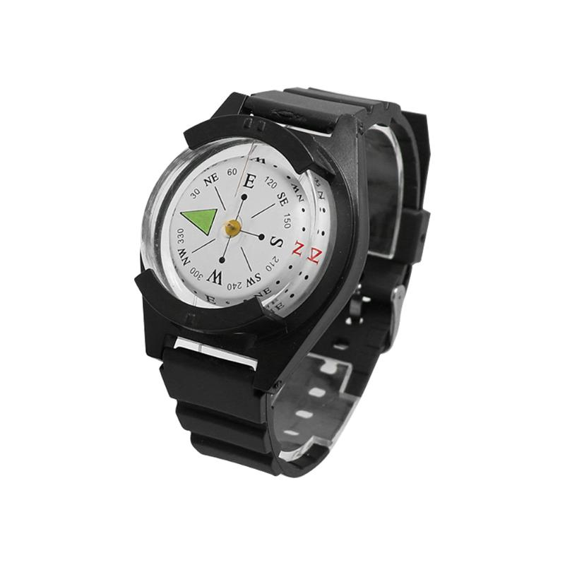 EDC Wrist Compass Watch Save Time and Energy for Convenience Outdoor Survival Bracelet for Climbing Sports Black(China)