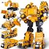 5 w 1 robot transformujący się w kolekcji NBK GT devagate rysunek KO aluminiowe ciężarówki inżynieryjne kreatywne zabawki kombinowane