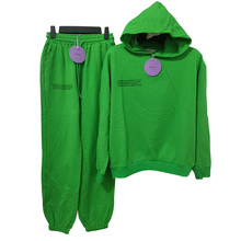 2021 Pure Cotton Thin Spring and Summer Fabric Hooded Sweatshirts Hoodies Track Pants Women Clothes Tracksuits Two Piece Sets