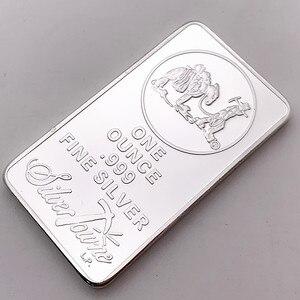 1 OZ 999 Fine Silver Bullion Bar American Prospector US Union Metal Coin Collectible Value(China)