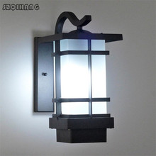 цена на Outdoor Wall Lamp Waterproof LED Garden Lamp Aisle Corridor Outdoor Balcony Terrace Lamp Aluminum Courtyard Porch Lights