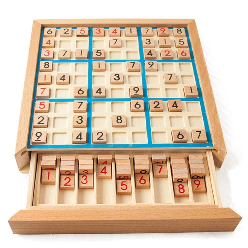 Quality Sudoku Chess Digits 1 To 9 Can Only Put Once In Any Row Line And Check Intelligent Fancy Educational Wood Toys Happy Gam