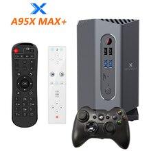 A95x max plus amlogic s922x smart android 9.0 caixa de tv 4gb ram 64gb rom caixa de jogos com bluetooth gamepad movimento sensing remoto