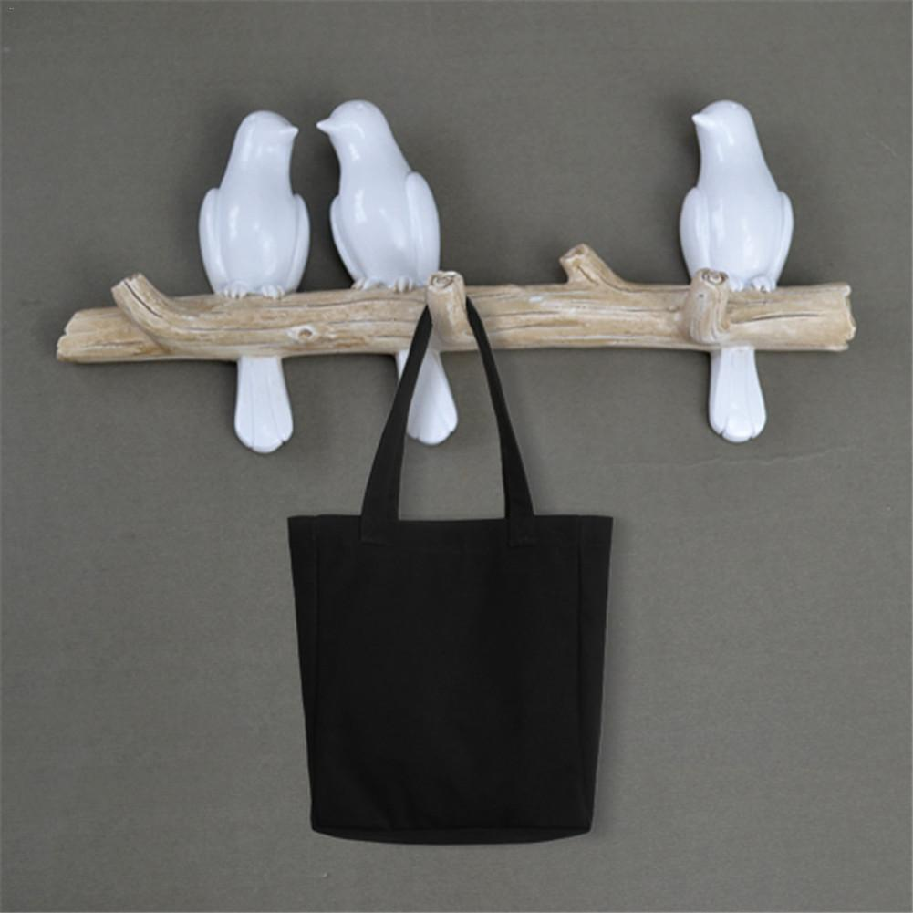 Wall Mounted Coat Rack | Birds On Tree Branch Hanger With 3 Hooks | For Coats, Hats, Keys, Towels, Clothes Storage Hanger