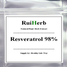 цена на Pure Resveratrol 98% Extract Powder Anti-aging Anti-cholesterol & Anti-oxidant