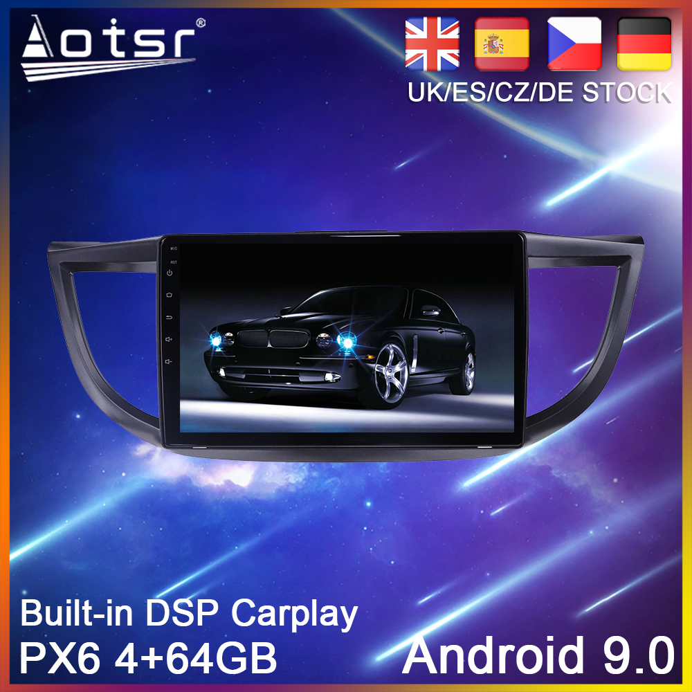 Android 9.0 PX6 64G Car DVD Player GPS Navigation For <font><b>Honda</b></font> CRV <font><b>CR</b></font>-<font><b>V</b></font> 2011-2015 Car Auto Radio Stereo Multimedia Player HeadUnit image