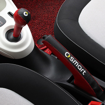 Auto Versnellingspook Kragen Lederen Case Modificatie Accessoires Voor Nieuwe Smart Fortwo Forfour 453 Auto Handrem Grips Auto Styling