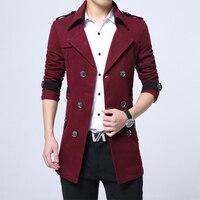 Autumn Winter Coat Men Plus Size Woolen Men's Jacket Korean Black Mens Coats Overcoats Man 5xl Casaco Masculino KJ247