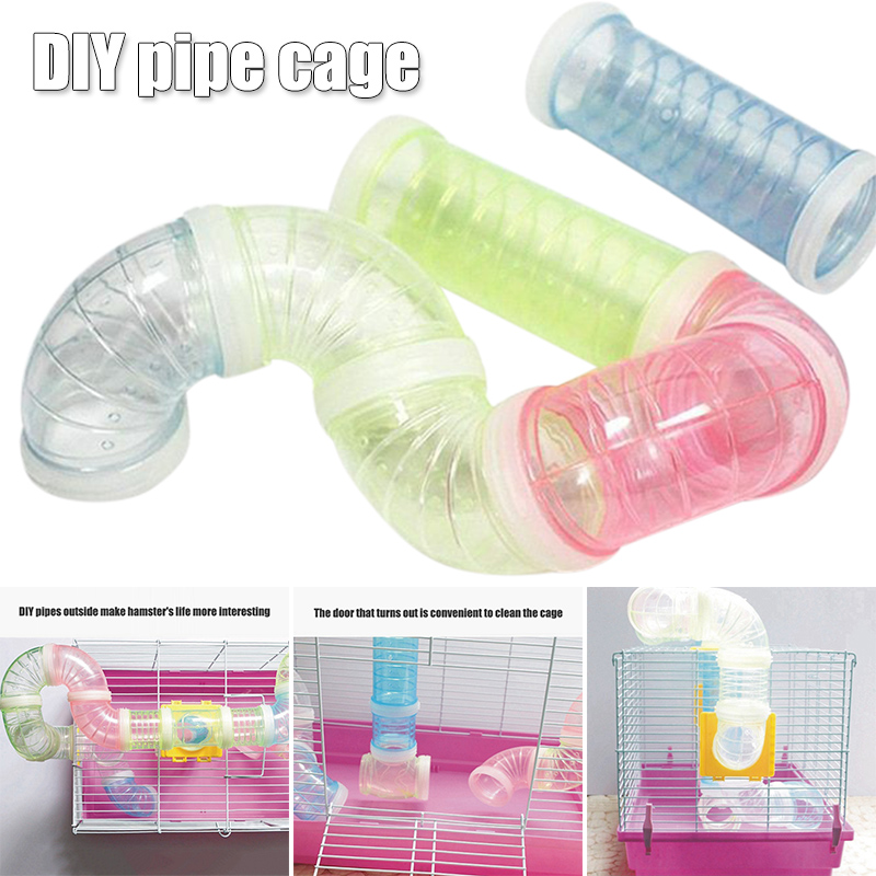 Hamster Tunnel Game Sports Runway Dutch Pig Rat Hamster Play Durable Training Transparent Pipeline Small Pet Toys Accessories