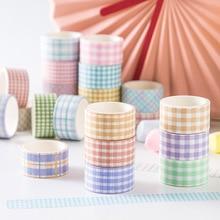 4 Pcs/lot Plaid Series Washi Tape Set DIY Hand Account Material Stickers Photo Album Diary Decoration Stickers Kawaii